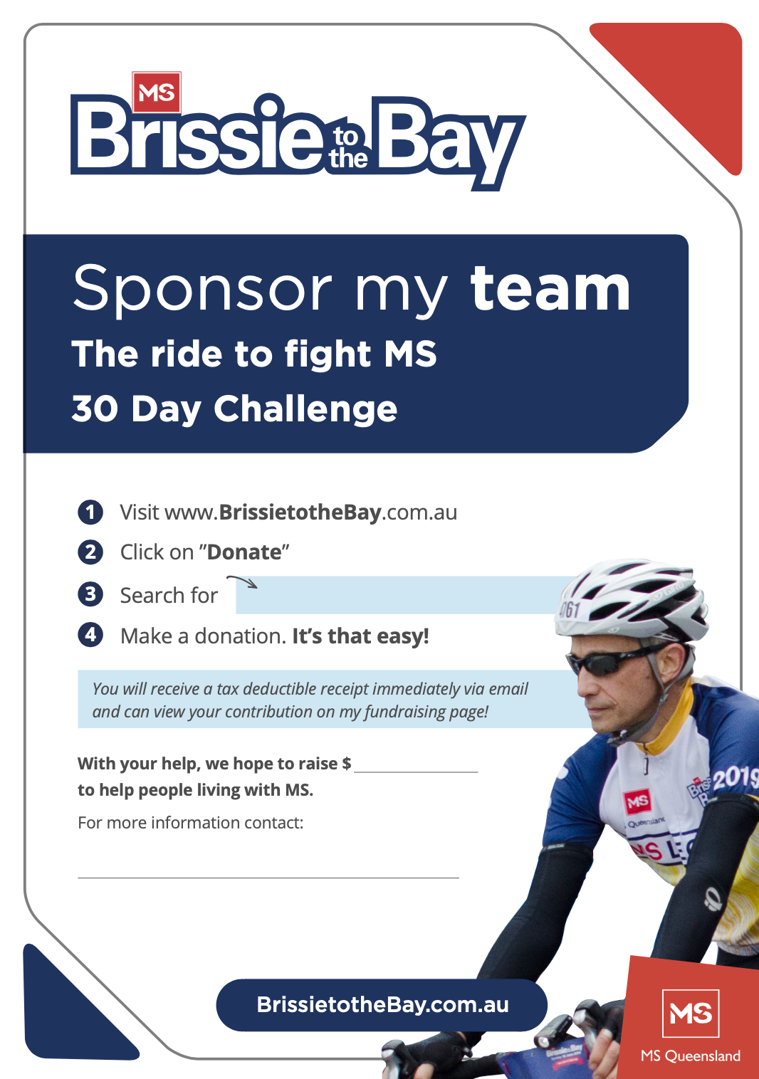 Sponsor My Team To Ride 30 Days Challenge
