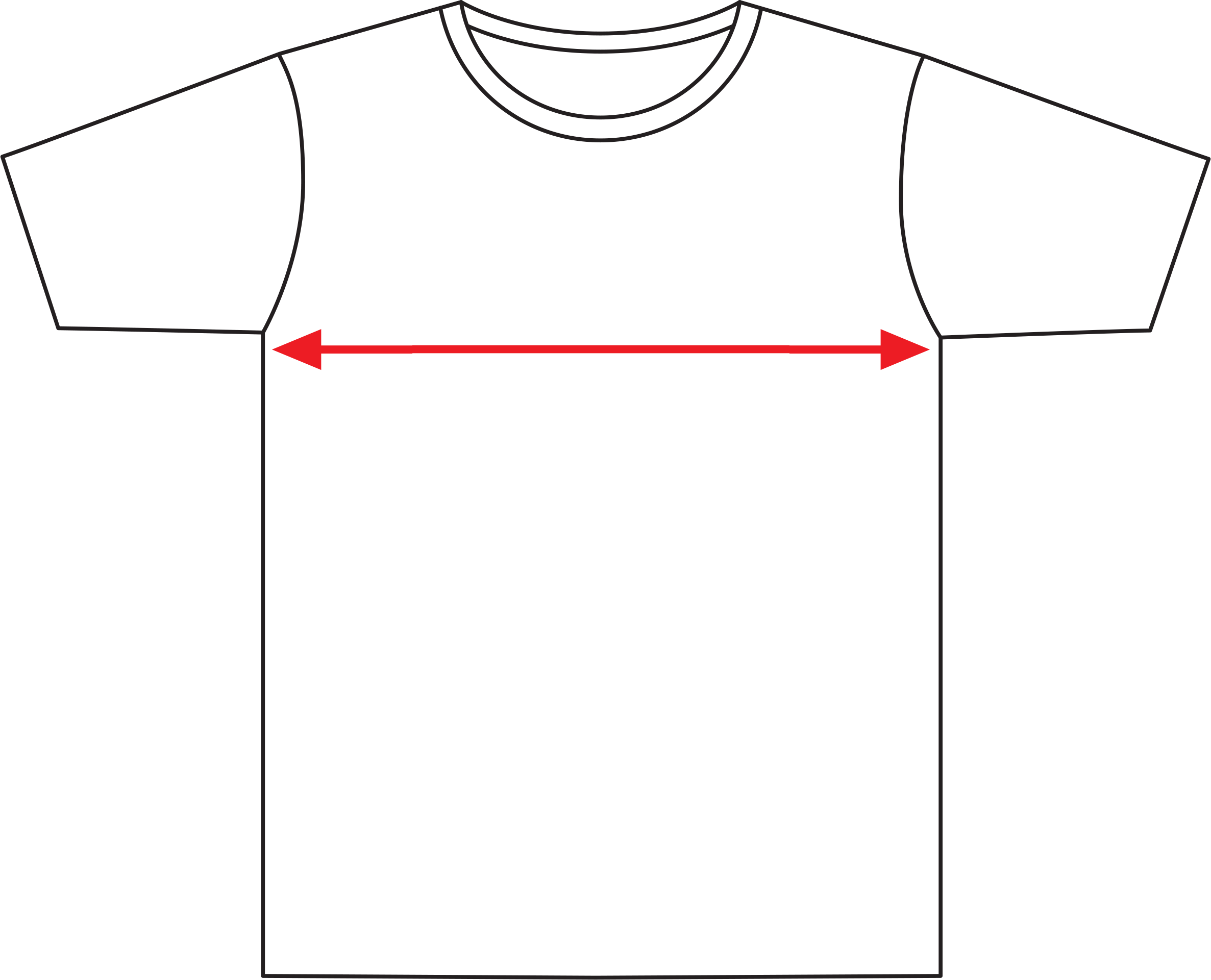 MS Brissie to the Bay T-Shirt Sizing Diagram