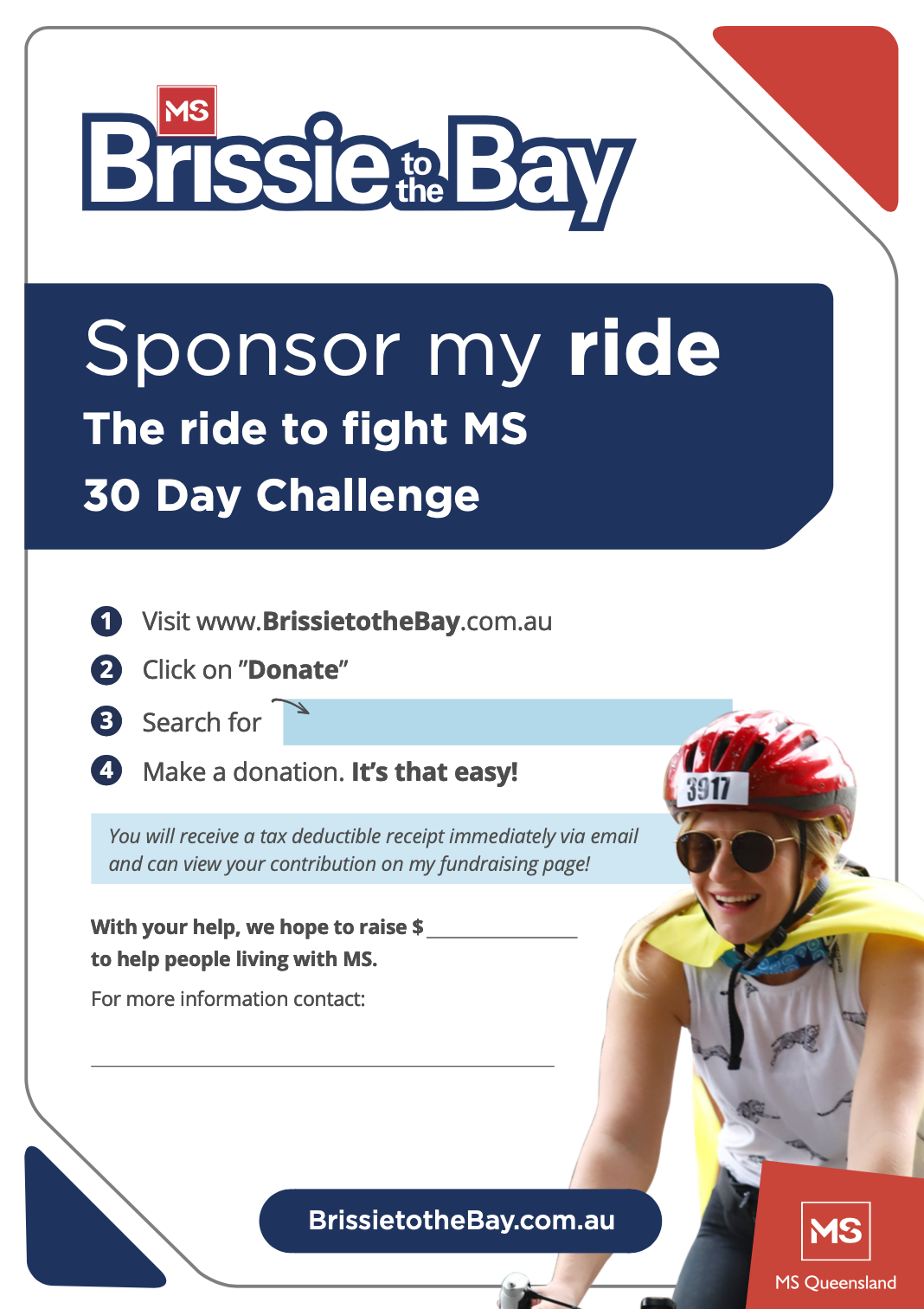 Sponsor My Ride For 30 Days Challenge