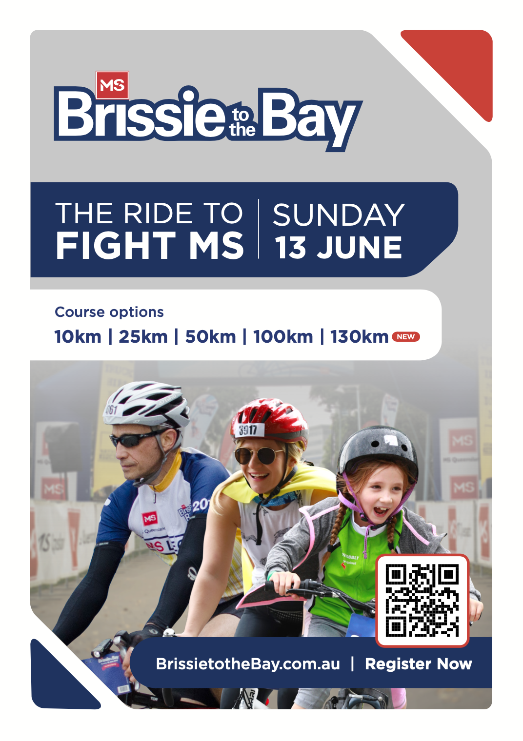 Brissie to the  Bay Poster 13 June